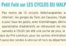 Les cyclos du Malpas référencé dans le petit futé 2019